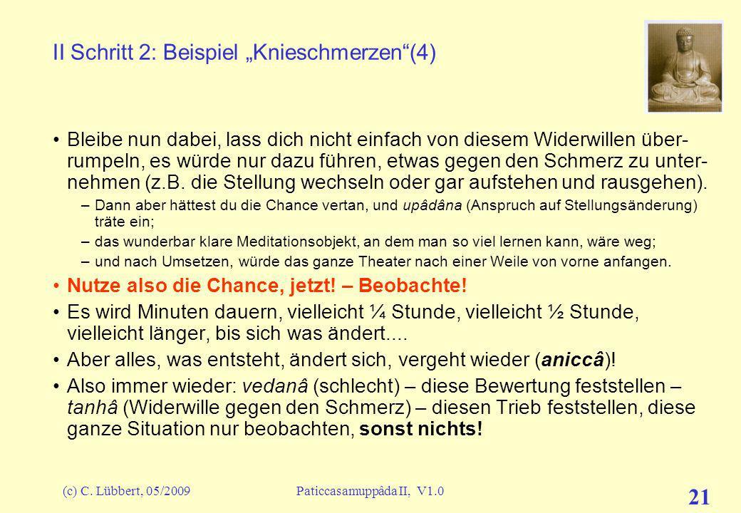 """II Schritt 2: Beispiel """"Knieschmerzen (4)"""