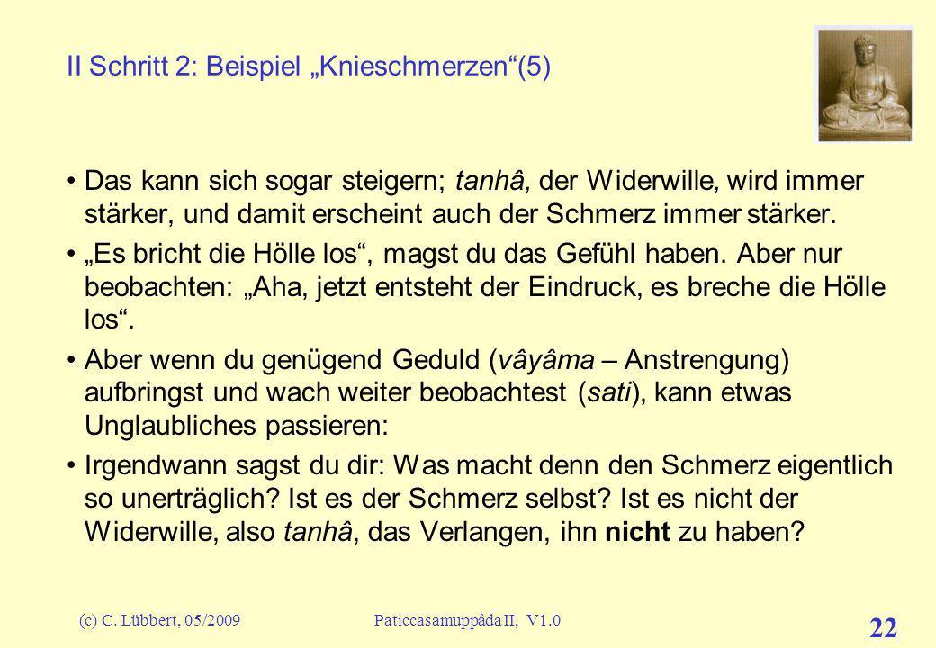"""II Schritt 2: Beispiel """"Knieschmerzen (5)"""
