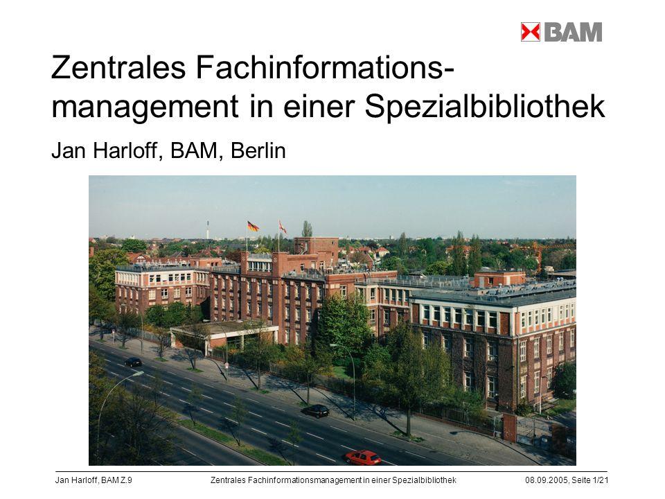 Zentrales Fachinformations-management in einer Spezialbibliothek
