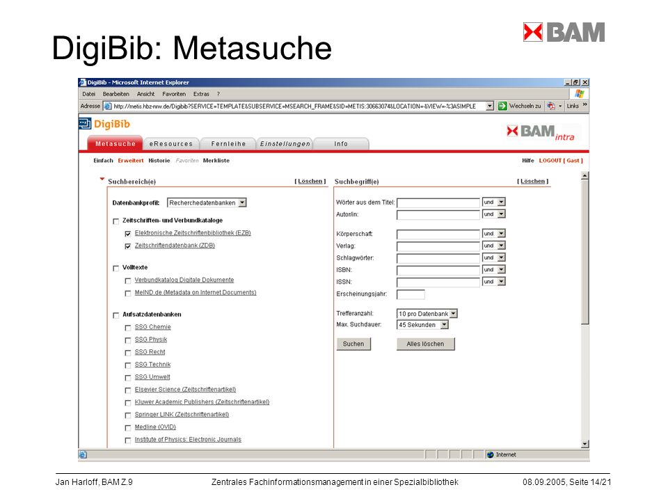 DigiBib: Metasuche Jan Harloff, BAM Z.9
