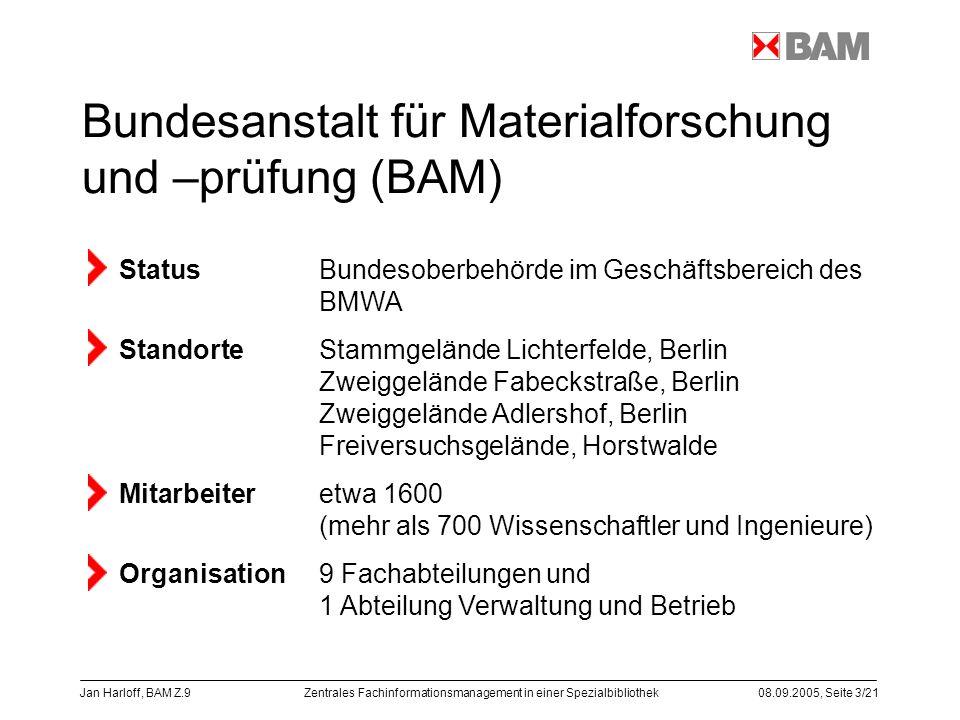 Bundesanstalt für Materialforschung und –prüfung (BAM)