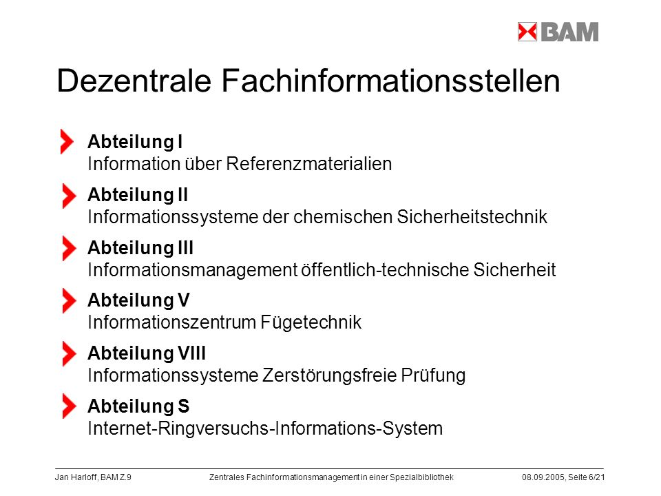 Dezentrale Fachinformationsstellen