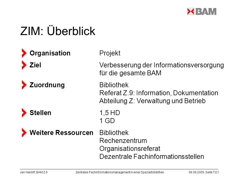 ZIM: Überblick Rechenzentrum Organisationsreferat