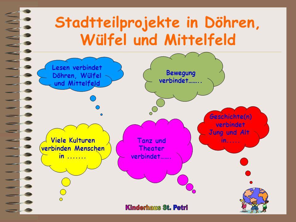 Stadtteilprojekte in Döhren, Wülfel und Mittelfeld