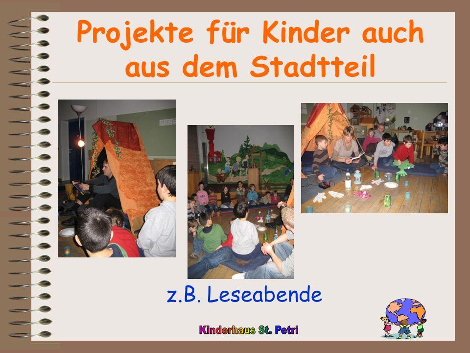 Projekte für Kinder auch aus dem Stadtteil