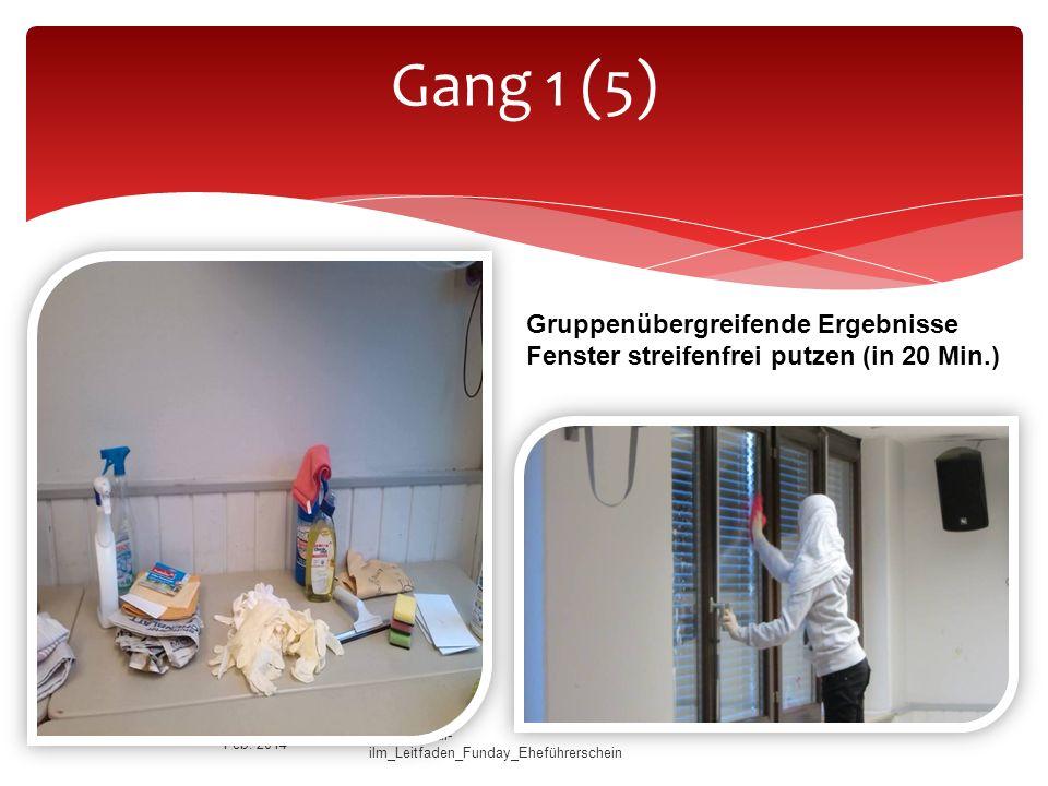 Gang 1 (5) Gruppenübergreifende Ergebnisse