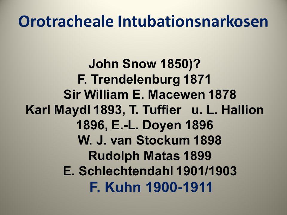 Orotracheale Intubationsnarkosen
