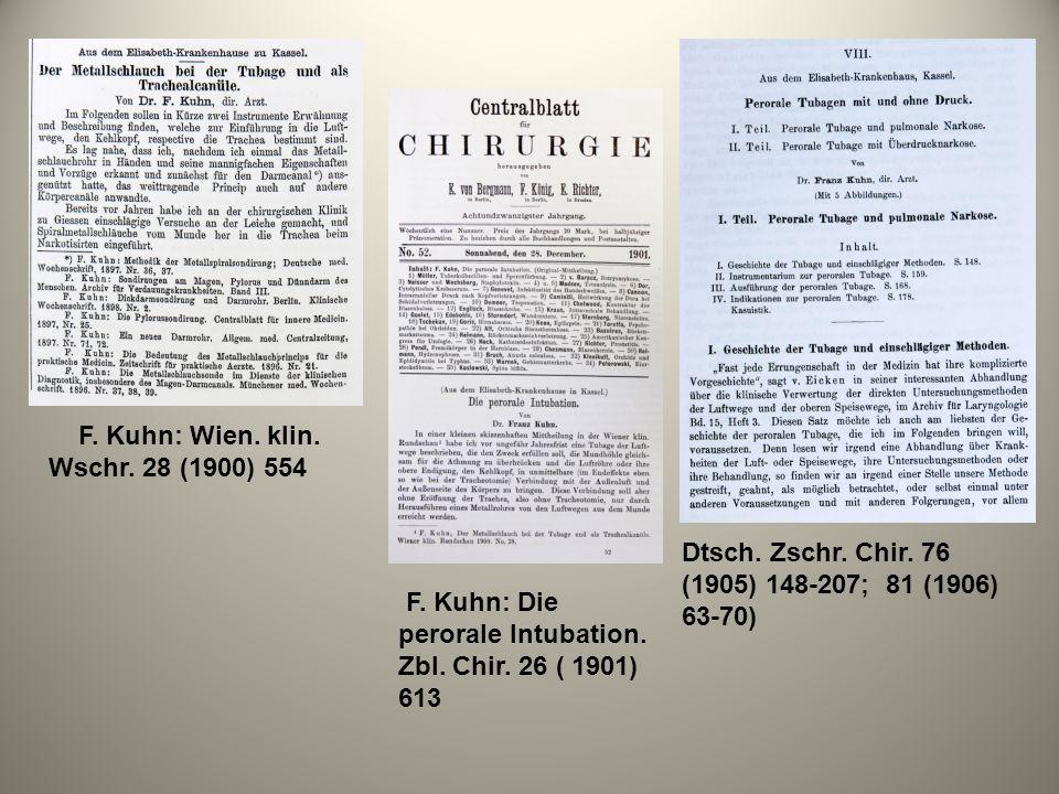 F. Kuhn: Wien. klin. Wschr. 28 (1900) 554