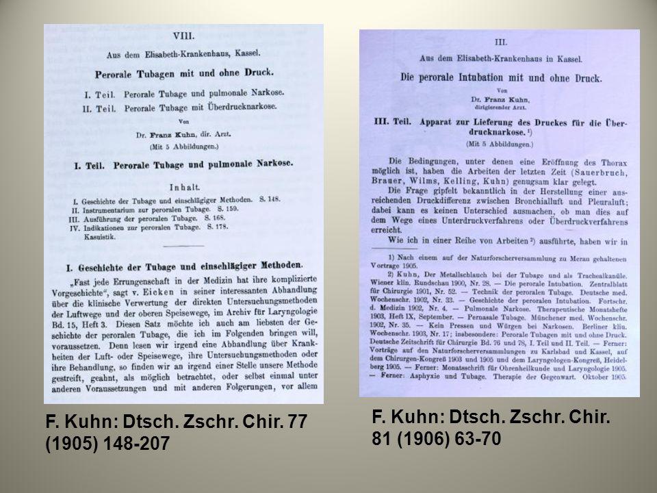 F. Kuhn: Dtsch. Zschr. Chir. 81 (1906) 63-70