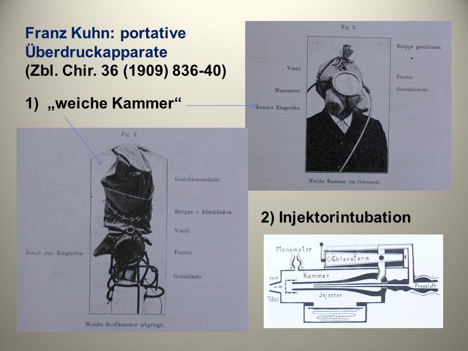 Franz Kuhn: portative Überdruckapparate