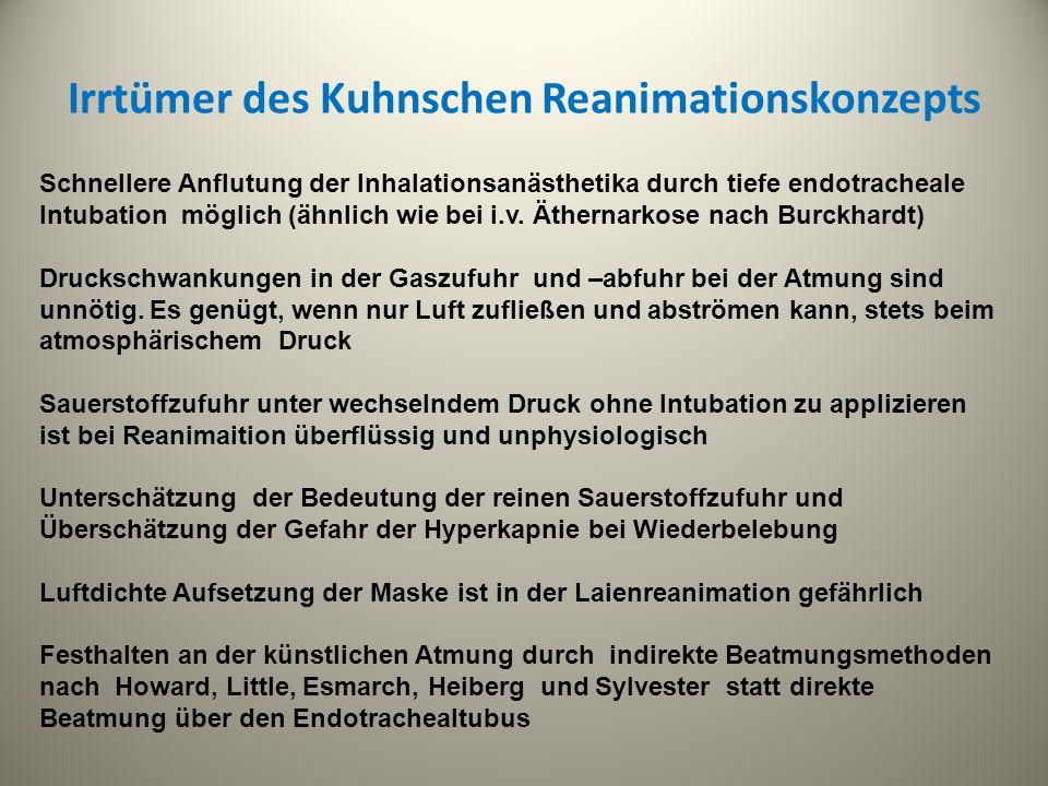 Irrtümer des Kuhnschen Reanimationskonzepts