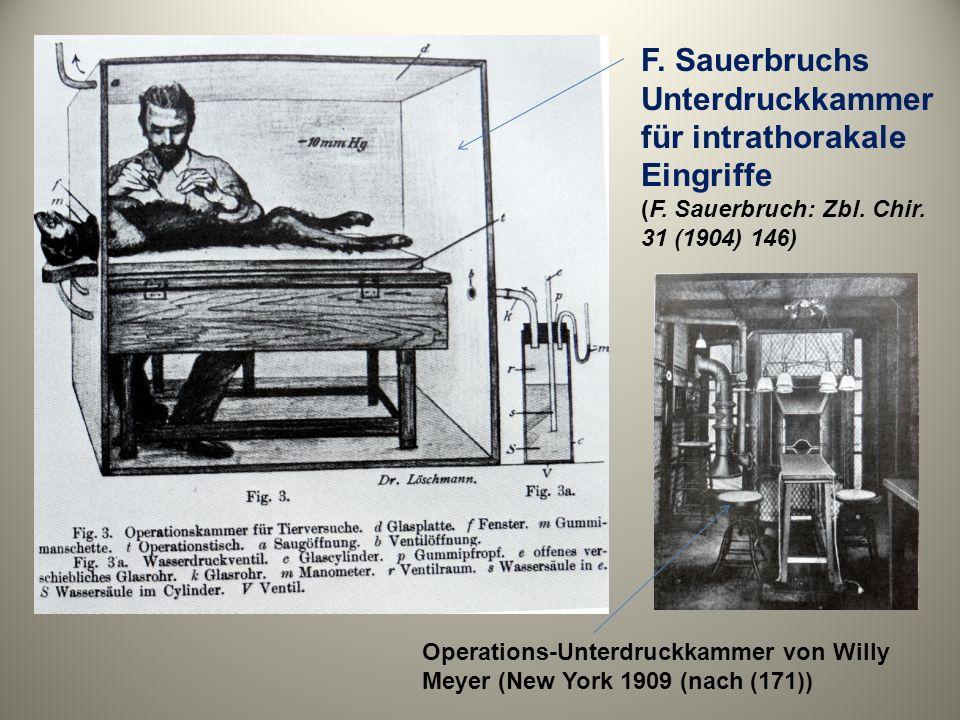 F. Sauerbruchs Unterdruckkammer für intrathorakale Eingriffe