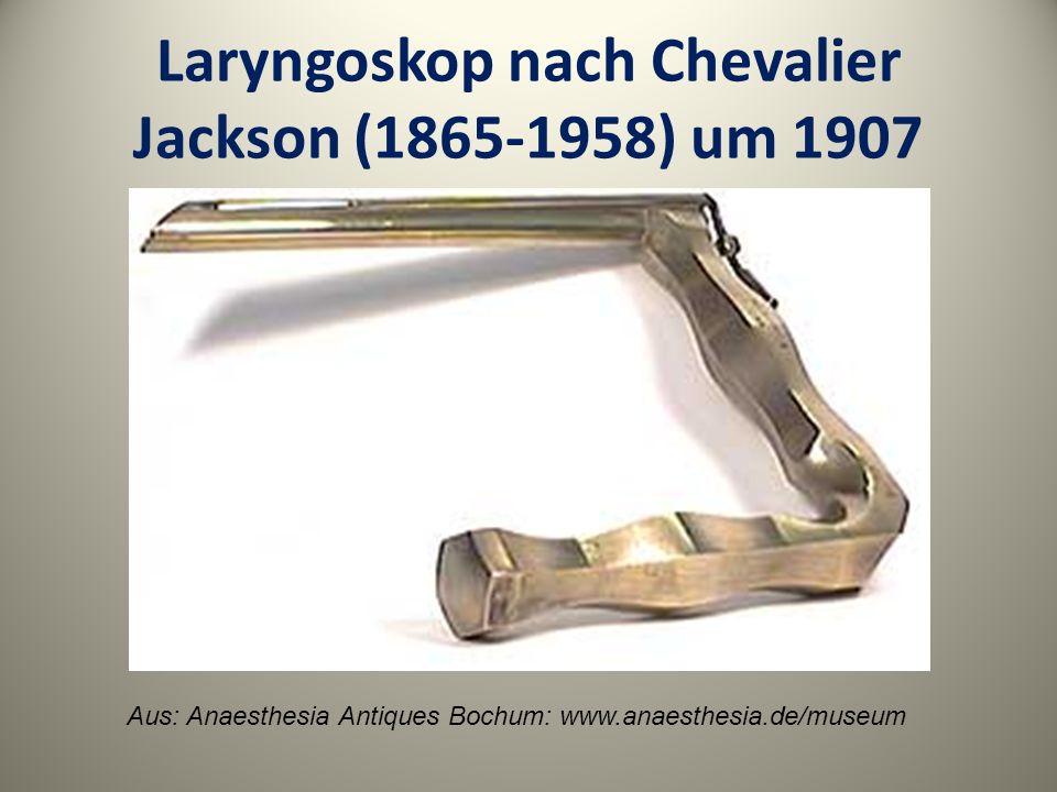 Laryngoskop nach Chevalier Jackson (1865-1958) um 1907