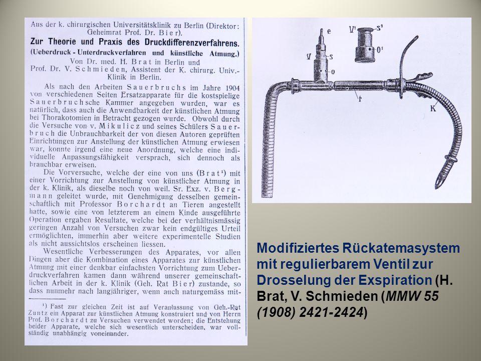 Modifiziertes Rückatemasystem mit regulierbarem Ventil zur Drosselung der Exspiration (H.