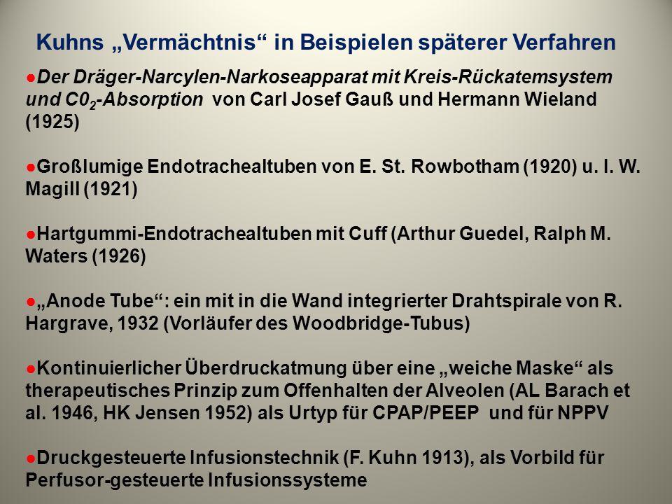 """Kuhns """"Vermächtnis in Beispielen späterer Verfahren"""