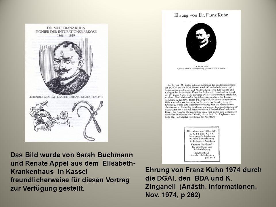 Das Bild wurde von Sarah Buchmann und Renate Appel aus dem Elisabeth-Krankenhaus in Kassel freundlicherweise für diesen Vortrag zur Verfügung gestellt.