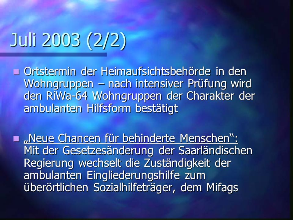 Juli 2003 (2/2)