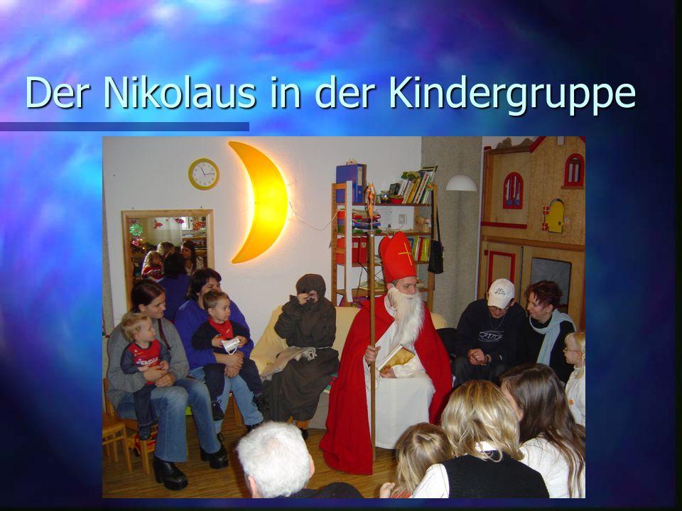 Der Nikolaus in der Kindergruppe