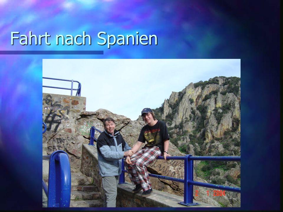 Fahrt nach Spanien