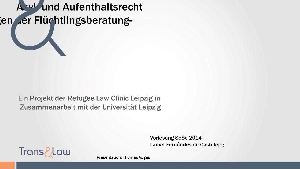 -Rechtliche Grundlagen der Flüchtlingsberatung-