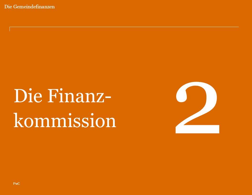 Die Gemeindefinanzen 2 Die Finanz- kommission