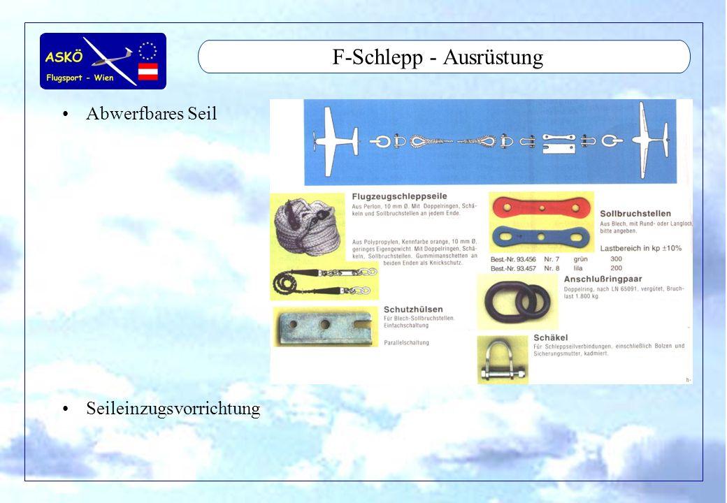F-Schlepp - Ausrüstung