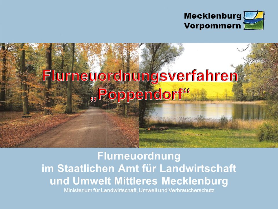 """Flurneuordnungsverfahren """"Poppendorf"""