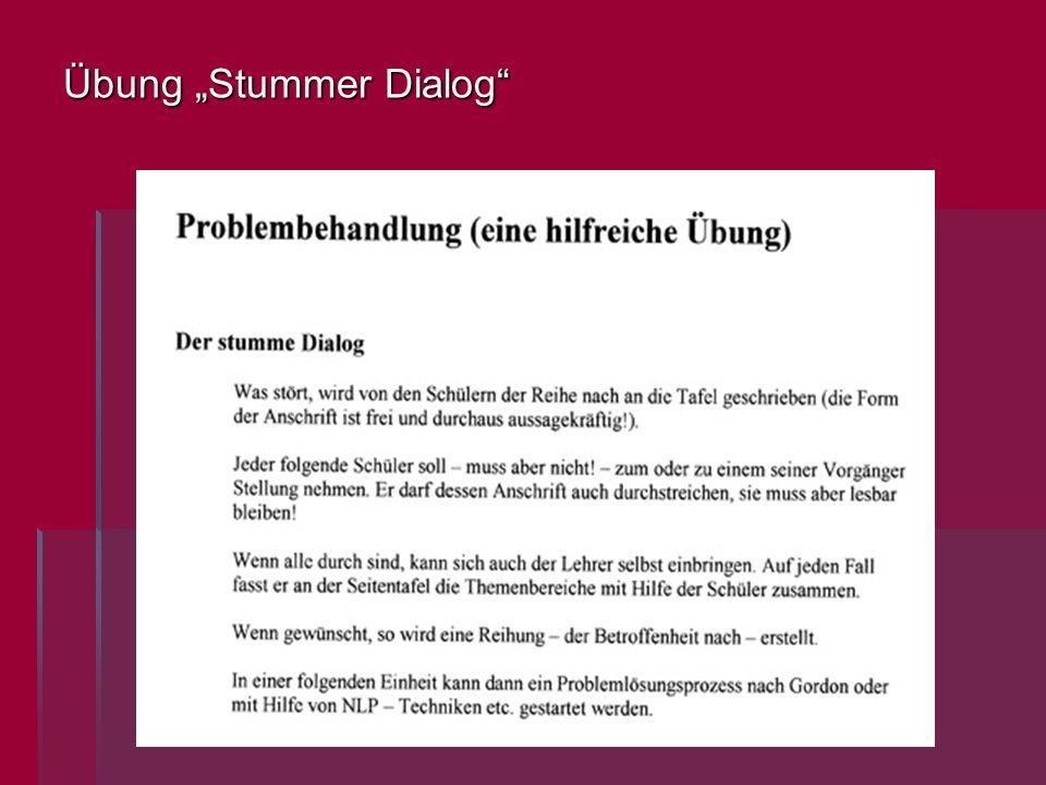 """Übung """"Stummer Dialog"""