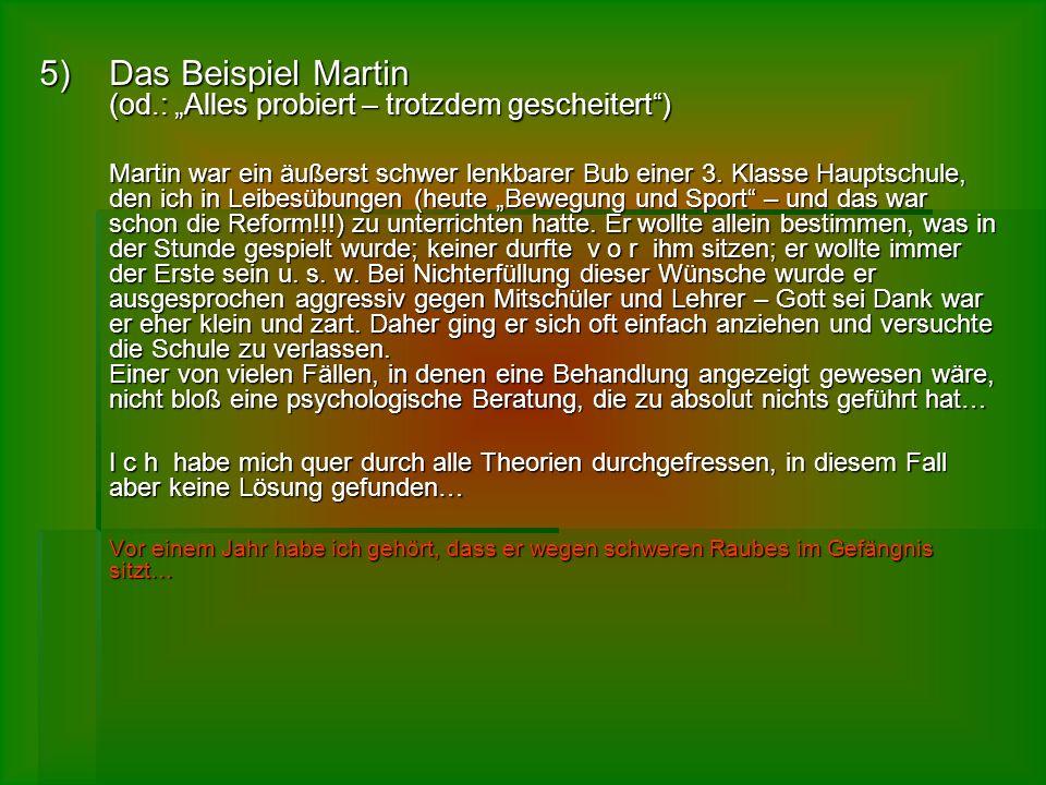 """Das Beispiel Martin (od.: """"Alles probiert – trotzdem gescheitert )"""