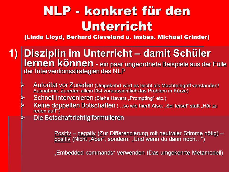 NLP - konkret für den Unterricht (Linda Lloyd, Berhard Cleveland u