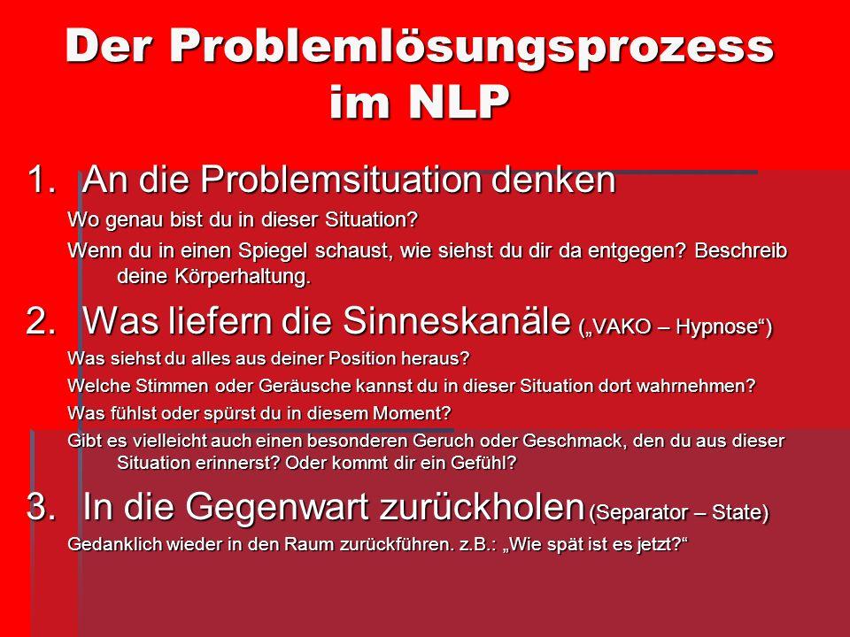 Der Problemlösungsprozess im NLP