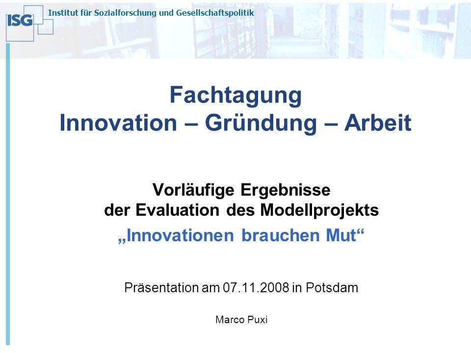 Fachtagung Innovation – Gründung – Arbeit