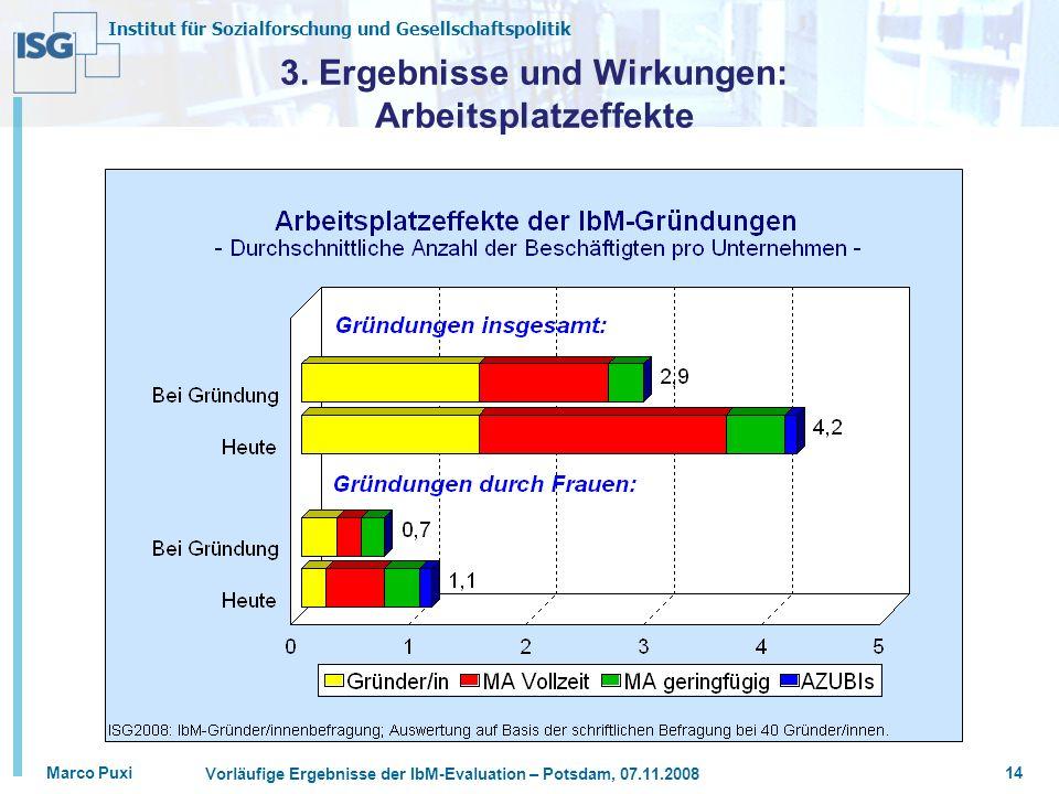3. Ergebnisse und Wirkungen: Arbeitsplatzeffekte