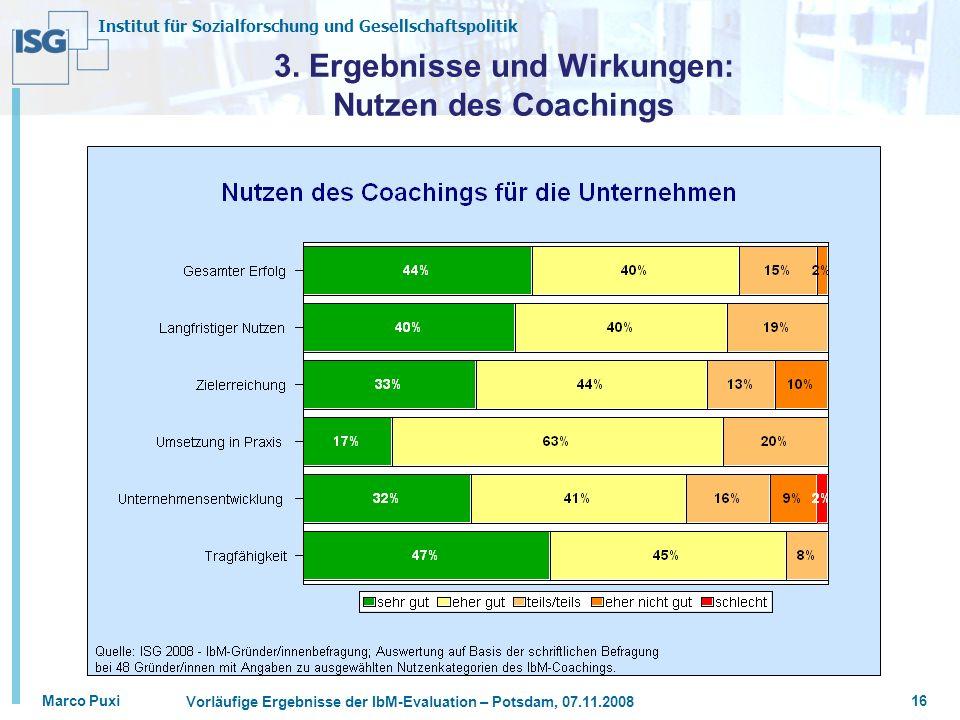 3. Ergebnisse und Wirkungen: Nutzen des Coachings