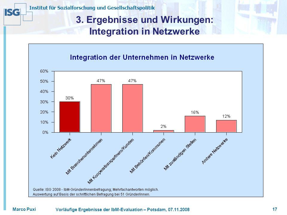 3. Ergebnisse und Wirkungen: Integration in Netzwerke