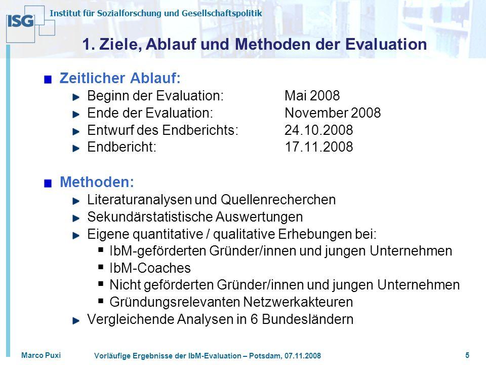 1. Ziele, Ablauf und Methoden der Evaluation