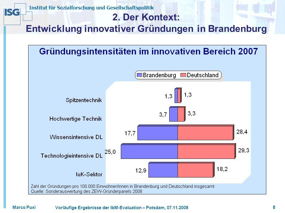 2. Der Kontext: Entwicklung innovativer Gründungen in Brandenburg