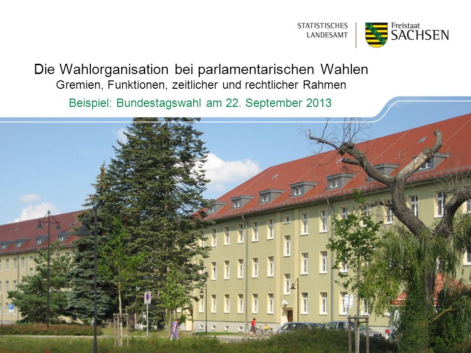 Beispiel: Bundestagswahl am 22. September 2013