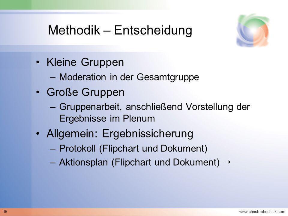 Methodik – Entscheidung
