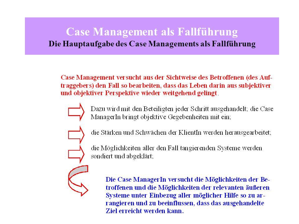 Case Management als Fallführung Die Hauptaufgabe des Case Managements als Fallführung