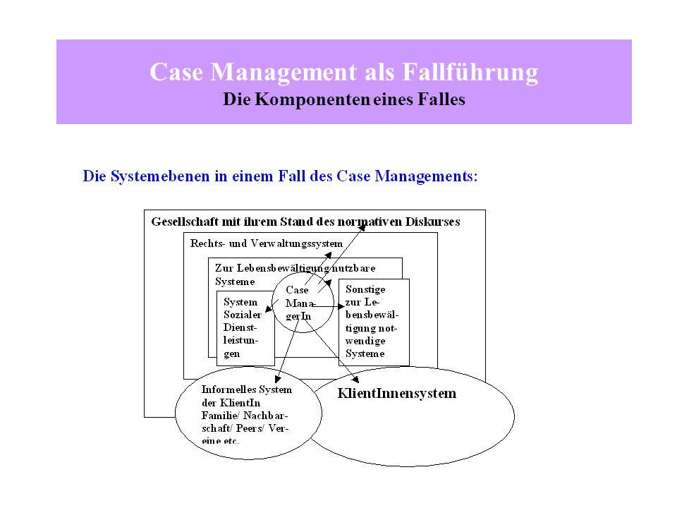 Case Management als Fallführung Die Komponenten eines Falles