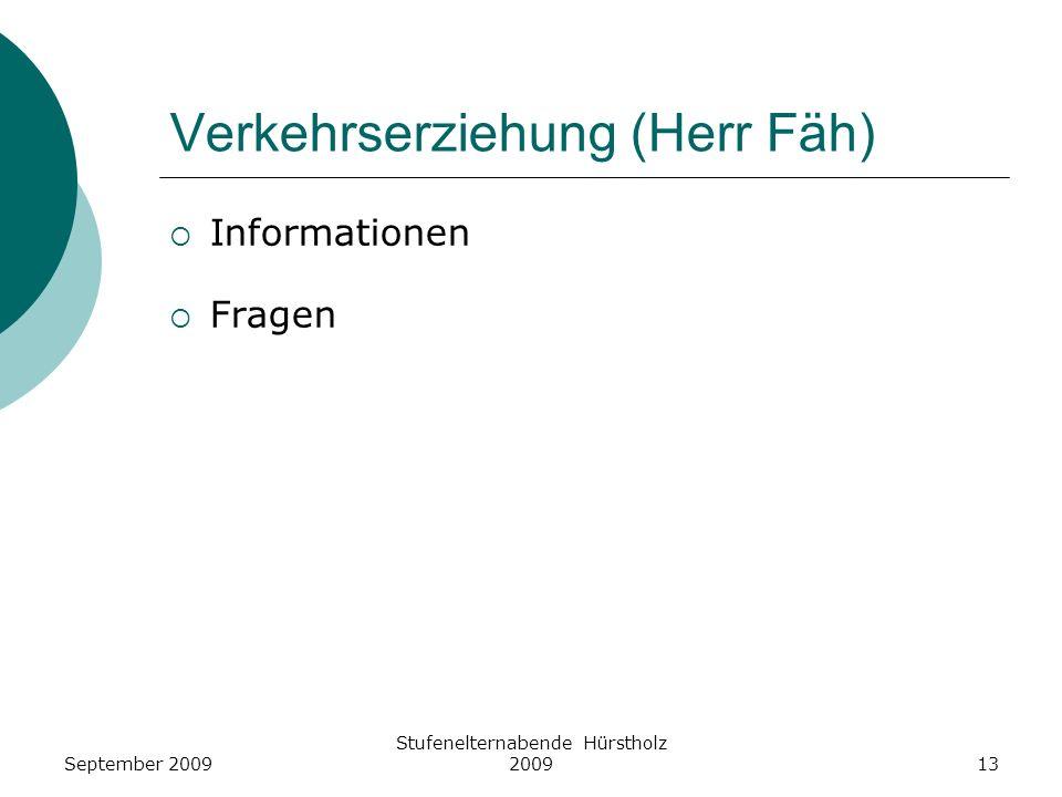 Verkehrserziehung (Herr Fäh)
