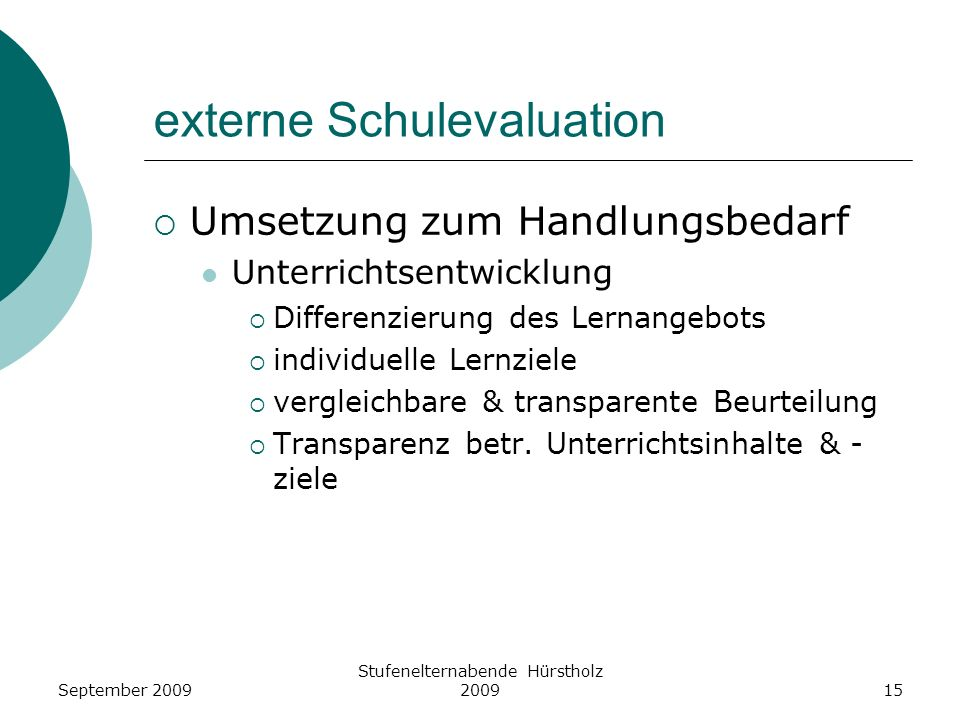 externe Schulevaluation
