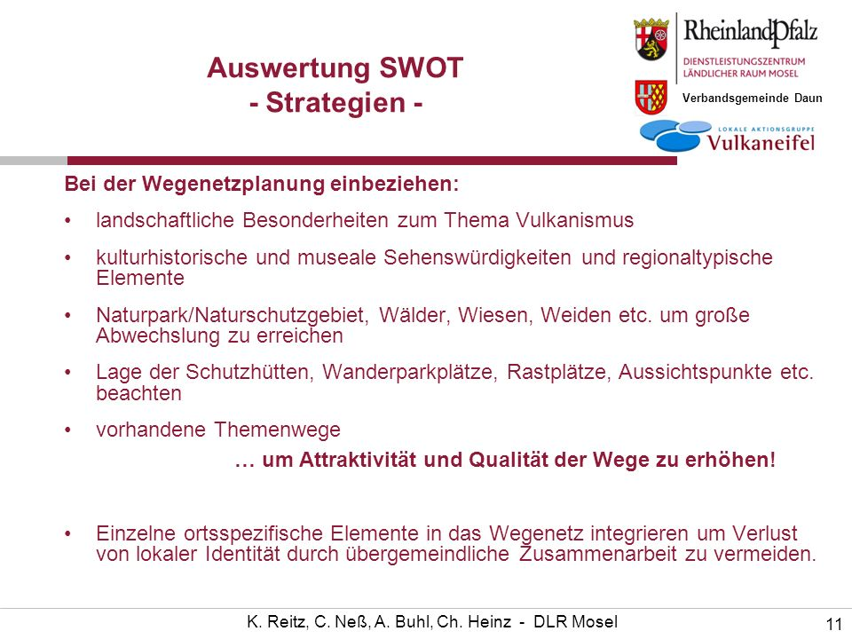 Auswertung SWOT - Strategien -