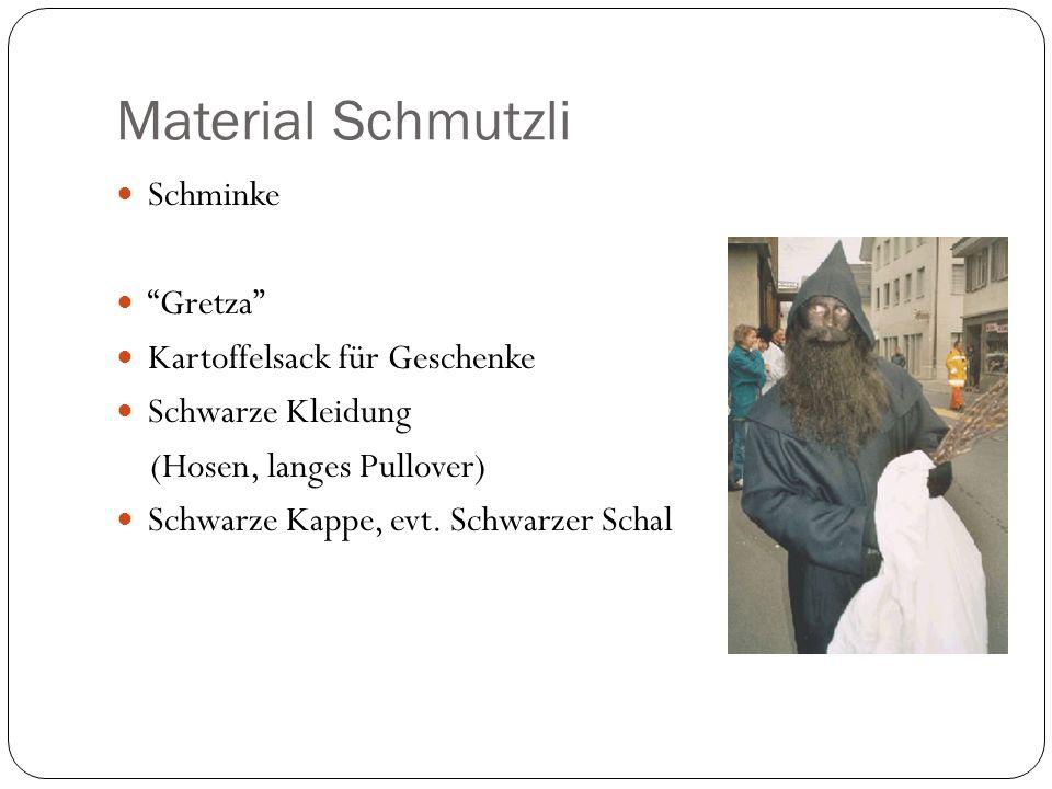Material Schmutzli Schminke Gretza Kartoffelsack für Geschenke
