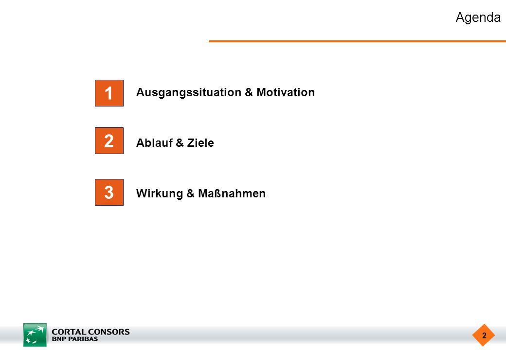 1 2 3 Agenda Ausgangssituation & Motivation Ablauf & Ziele