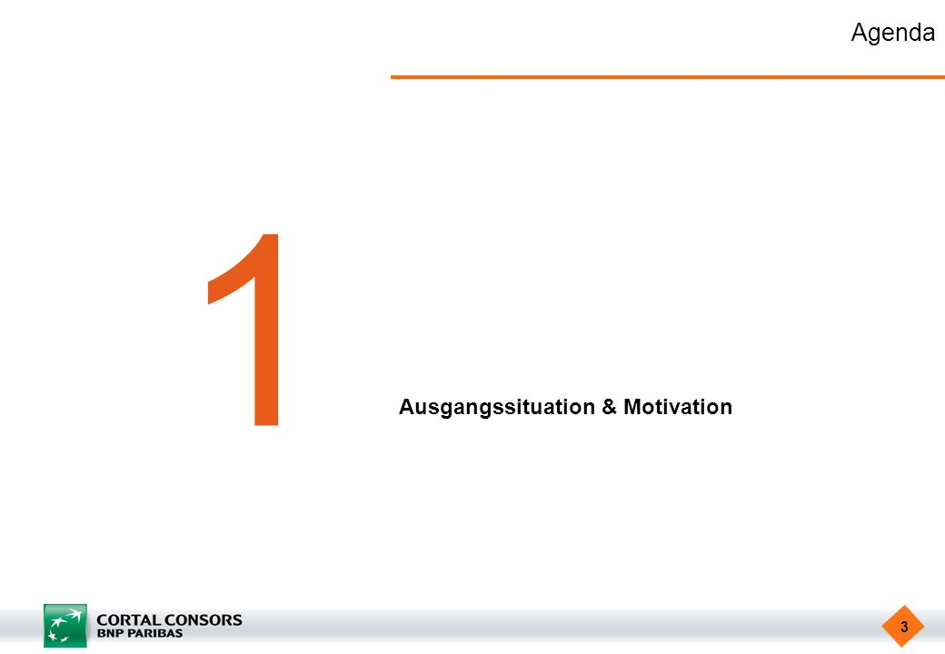 Agenda 1 Ausgangssituation & Motivation
