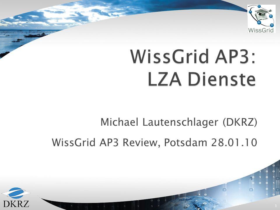 WissGrid AP3: LZA Dienste