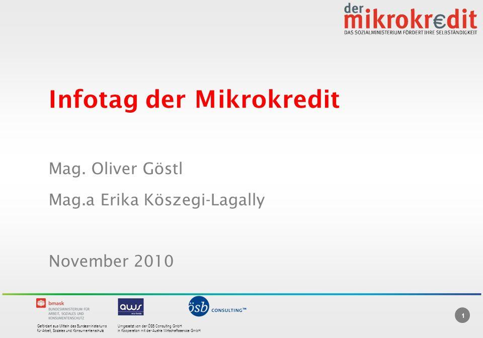 Infotag der Mikrokredit