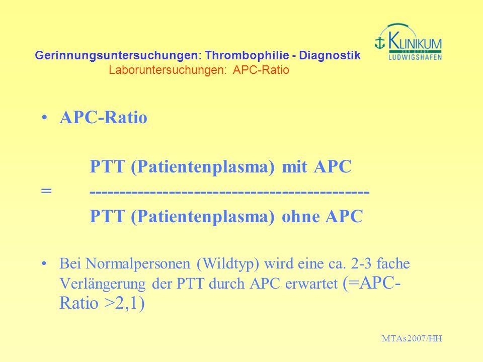 PTT (Patientenplasma) mit APC